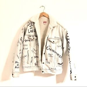Vintage Levi's Sherpa Chainsmokers Jean Jacket